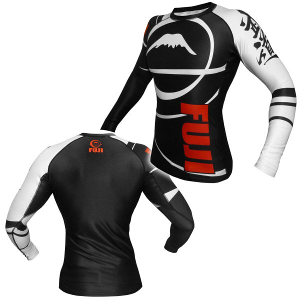 FUJI ラッシュガード FUJI Sports Freestyle IBJJF Ranked Rashguard Black Long Sleeve|2m50cm|05
