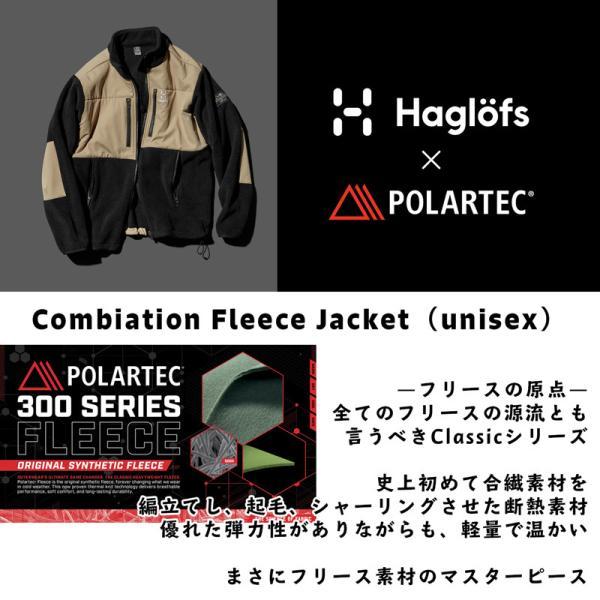 フリース Haglofs ホグロフス Combination Fleece Jacket コンビネーション フリース ジャケット|2m50cm|02