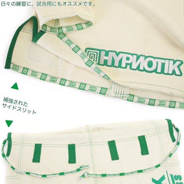 HYPNOTIK 柔術着 ZENROLL HEMP BJJ GI Natural White|2m50cm|05