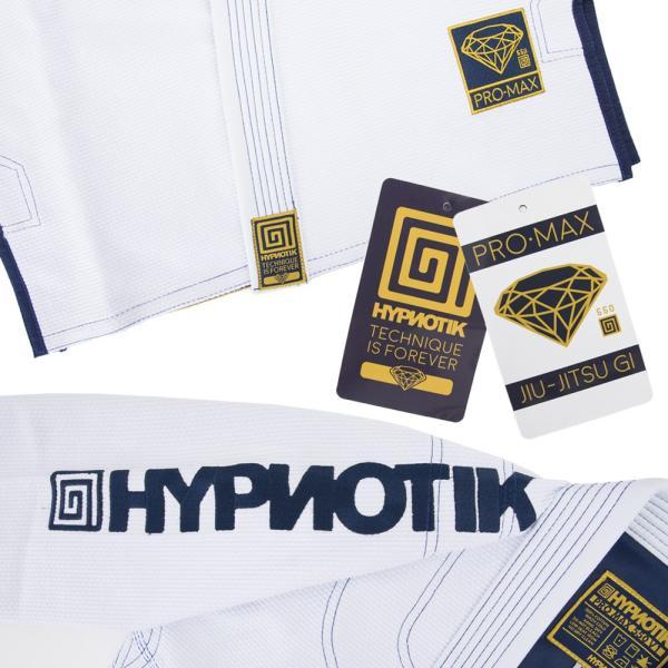 HYPNOTIK 柔術着 PROMAX 550 BJJ GI ホワイト|2m50cm|05