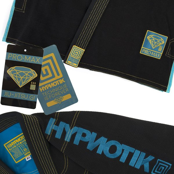 HYPNOTIK 柔術着 PROMAX 550 BJJ GI ブラック|2m50cm|05