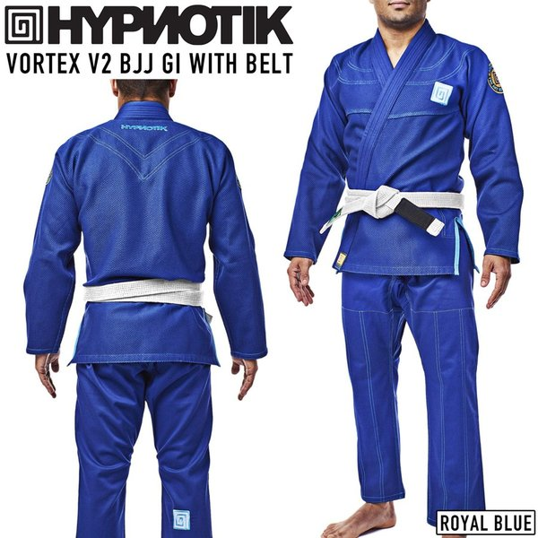 柔術着 帯付き HYPNOTIK VORTEX V2 BJJ GI WITH BELT 青 Royal Blue|2m50cm
