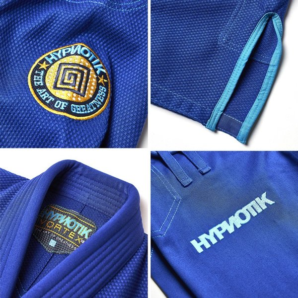 柔術着 帯付き HYPNOTIK VORTEX V2 BJJ GI WITH BELT 青 Royal Blue|2m50cm|03
