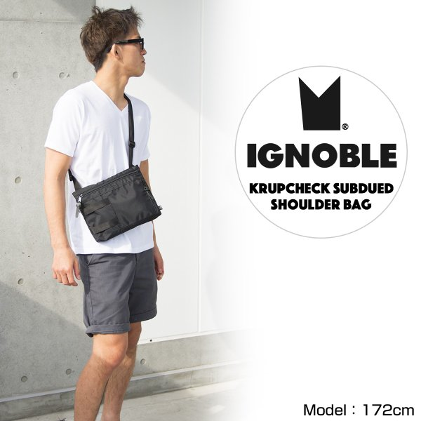 IGNOBLE イグノーブル Krupcheck Subdued Shoulder Bag ショルダーバッグ|2m50cm|02