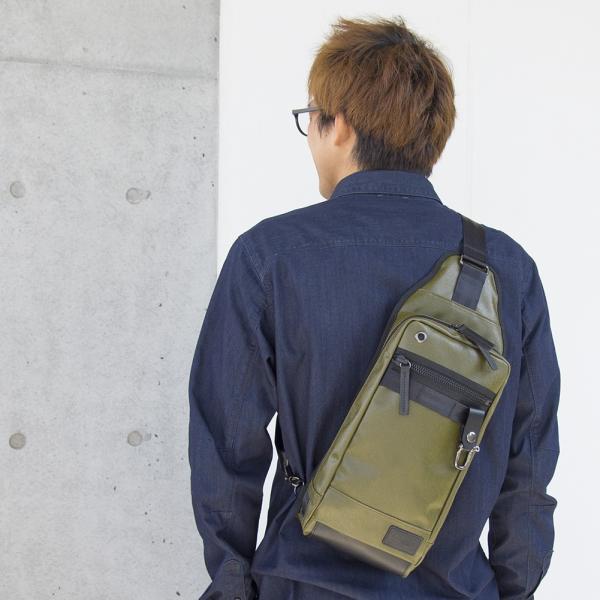 森野帆布 Premiumシリーズ ボディバッグ SF-198P|2m50cm|09