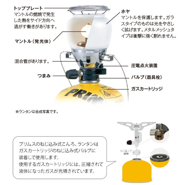 PRIMUS プリムス 2245ランタン 点火装置付 IP-2245A-S Easy Light イージーライト|2m50cm|06