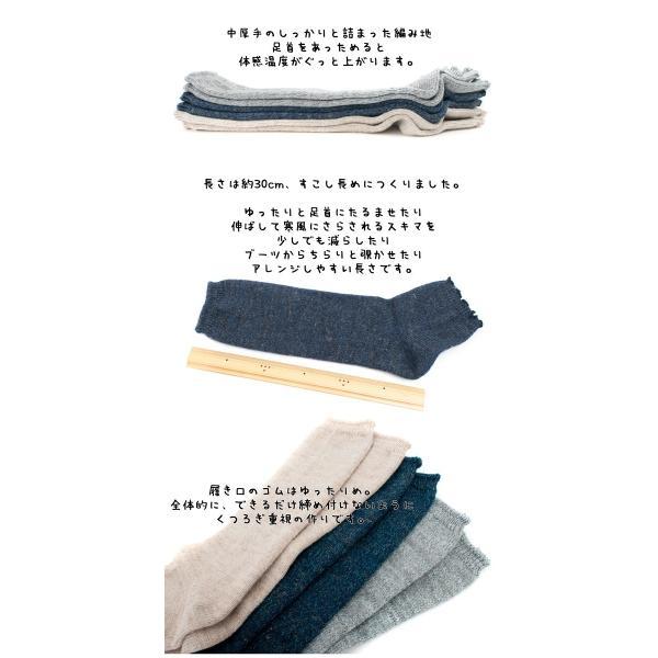 Small Stone Socks リネンウール サンダルソックス レッグウォーマー|2m50cm|02