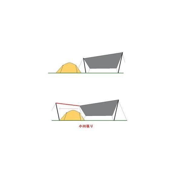 タープ 日焼け止め 日覆い 紫外線対策 六角タープ ヘクサタープ 小川張り 4〜6人用  超軽量 防水 多機能 収納袋付き HIKEMAN ハイクマン|2ndcycle|08