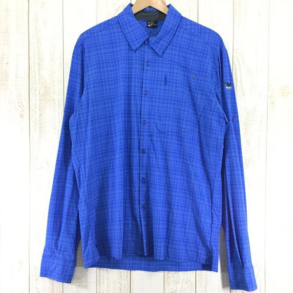 サレワ SALEWA FIANIT DRY MEN L/S SHIRT  International MEN's L ブルー系|2ndgear-outdoor