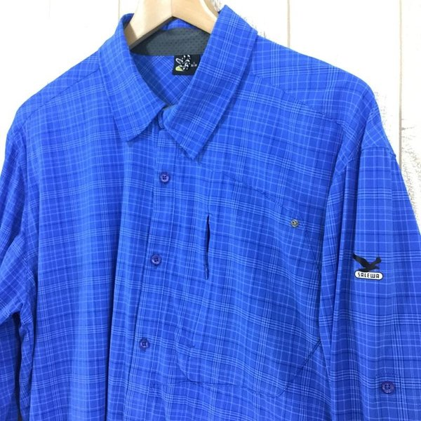 サレワ SALEWA FIANIT DRY MEN L/S SHIRT  International MEN's L ブルー系|2ndgear-outdoor|05