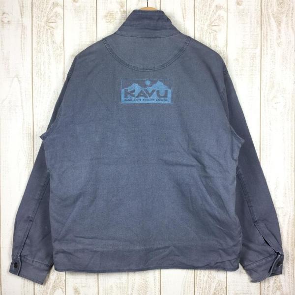 カブー KAVU フリース ラインド キャンバス ジャケット フルジップ  MEN's M グレー系|2ndgear-outdoor|06
