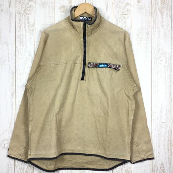 【30%OFF】カブー KAVU 90s スローシャツ 旧タグ アメリカ製 International MEN's M ベージュ系 2ndgear-outdoor