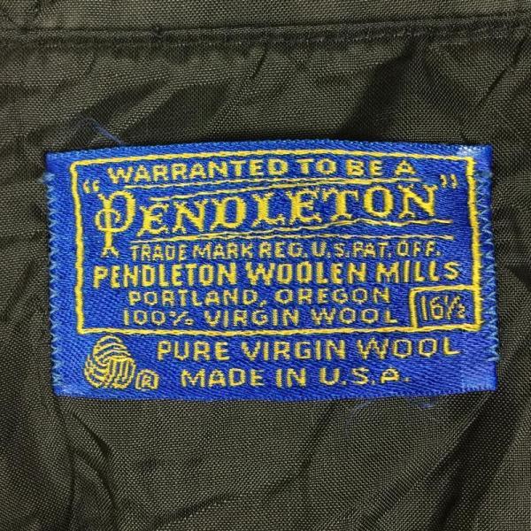 【30%OFF】ペンドルトン PENDLETON 70s ピュア バージン ウール シャツ PURE VIRGIN WOOL SHIRT  Inter|2ndgear-outdoor|09