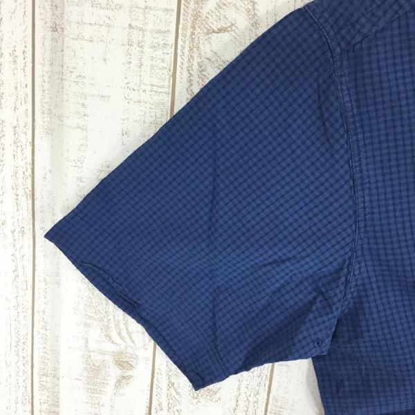 ノースフェイス NORTH FACE ショートスリーブ コットン シャツ  International MEN's M ブルー系|2ndgear-outdoor|03