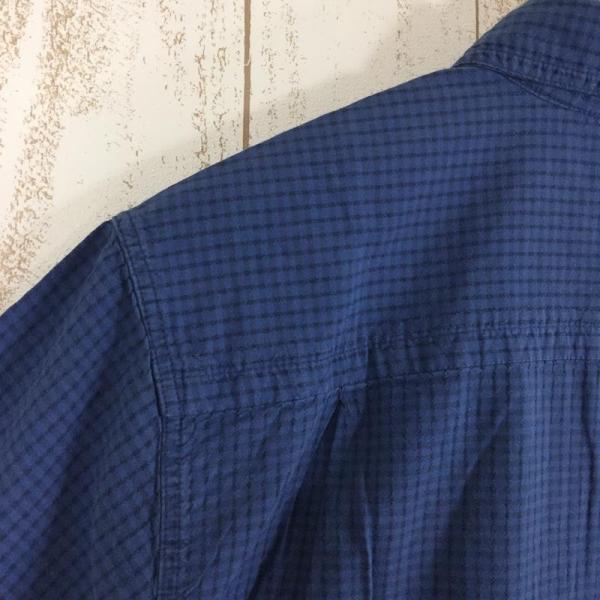 ノースフェイス NORTH FACE ショートスリーブ コットン シャツ  International MEN's M ブルー系|2ndgear-outdoor|07