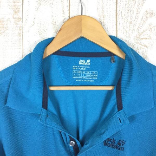 ジャックウルフスキン JACKWOLFSKIN ピケF65 ポロシャツ  International MEN's L ブルー系|2ndgear-outdoor|03