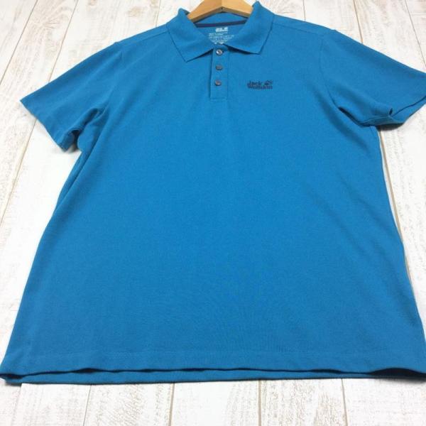 ジャックウルフスキン JACKWOLFSKIN ピケF65 ポロシャツ  International MEN's L ブルー系|2ndgear-outdoor|04