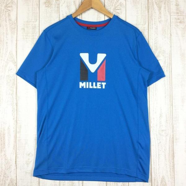 ミレー MILLET トリロジー ロゴ Tシャツ TRILOGY LOGO TEE  International MEN's L ブルー系 2ndgear-outdoor