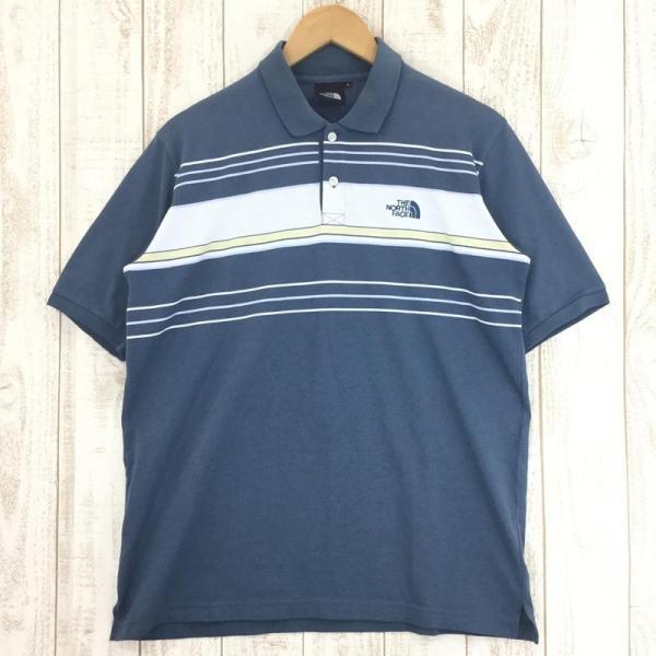 ノースフェイス NORTH FACE ショートスリーブ クイックドライ ポロシャツ  Asian MEN's L ブルー系|2ndgear-outdoor