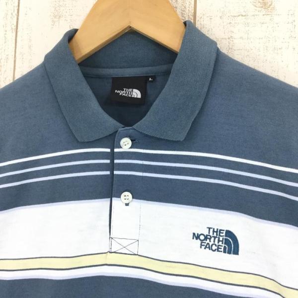 ノースフェイス NORTH FACE ショートスリーブ クイックドライ ポロシャツ  Asian MEN's L ブルー系|2ndgear-outdoor|03