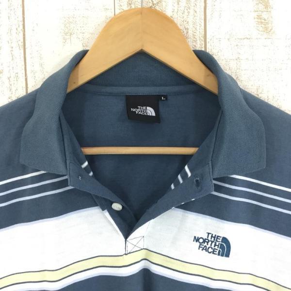 ノースフェイス NORTH FACE ショートスリーブ クイックドライ ポロシャツ  Asian MEN's L ブルー系|2ndgear-outdoor|04