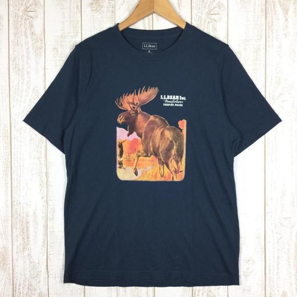 【30%OFF】エルエルビーン LLBEAN ムース Tシャツ MOOSE T Shirt MEN's M ネイビー系|2ndgear-outdoor