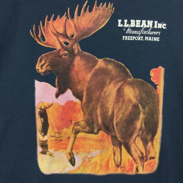 【30%OFF】エルエルビーン LLBEAN ムース Tシャツ MOOSE T Shirt MEN's M ネイビー系|2ndgear-outdoor|04