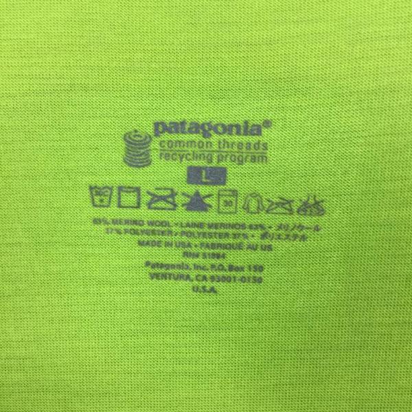 パタゴニア PATAGONIA メリノ 1 Tシャツ MERINO 1 TEE  International MEN's L グリーン系|2ndgear-outdoor|05