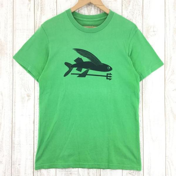 パタゴニア PATAGONIA トビウオ ショートスリーブ Tシャツ  International MEN's M グリーン系|2ndgear-outdoor