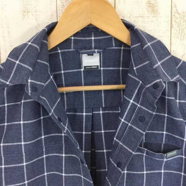 フェニックス PHENIX Windowpane Check Shirts  Asian MEN's M ネイビー系|2ndgear-outdoor|03