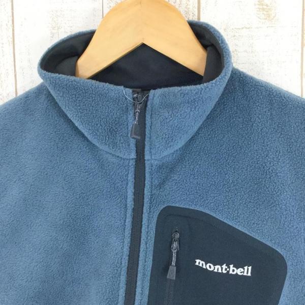 モンベル MONTBELL クリマプラス100 ジップベスト  Asian MEN's M STBL スレートブルー ブルー系|2ndgear-outdoor|02