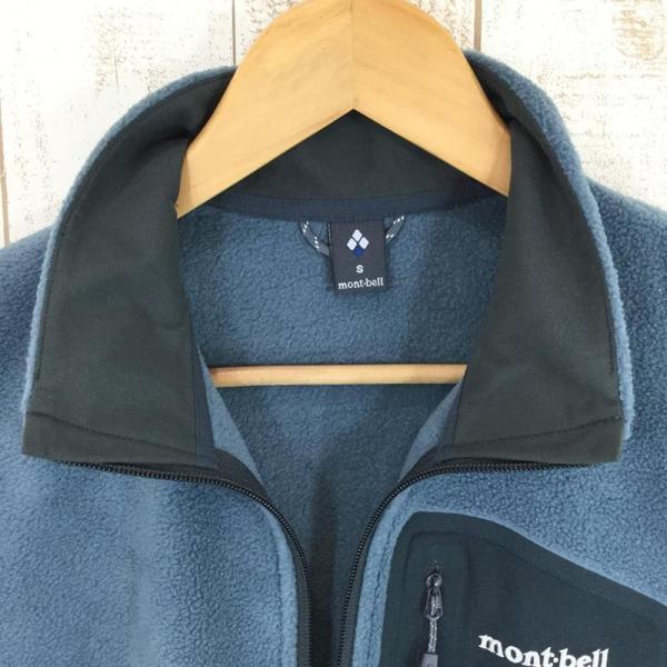 モンベル MONTBELL クリマプラス100 ジップベスト  Asian MEN's M STBL スレートブルー ブルー系|2ndgear-outdoor|03