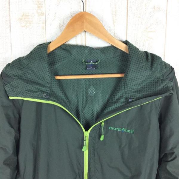 モンベル MONTBELL ライトシェルパーカ  Asian MEN's L グリーン系|2ndgear-outdoor|03