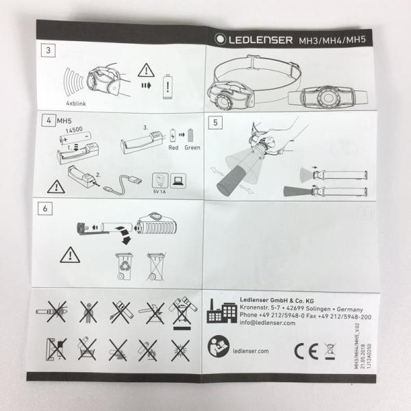 レッドレンザー LEDLENSER MH3 ヘッドランプ 200ルーメン  One グレー系|2ndgear-outdoor|08