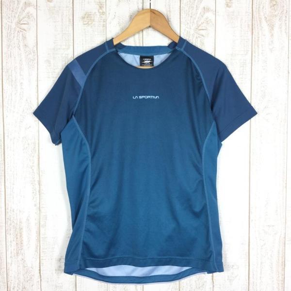 スポルティバ SPORTIVA クイックドライ クルーネック Tシャツ ポリジン永続的防臭加工済み  International MEN's L ブル|2ndgear-outdoor