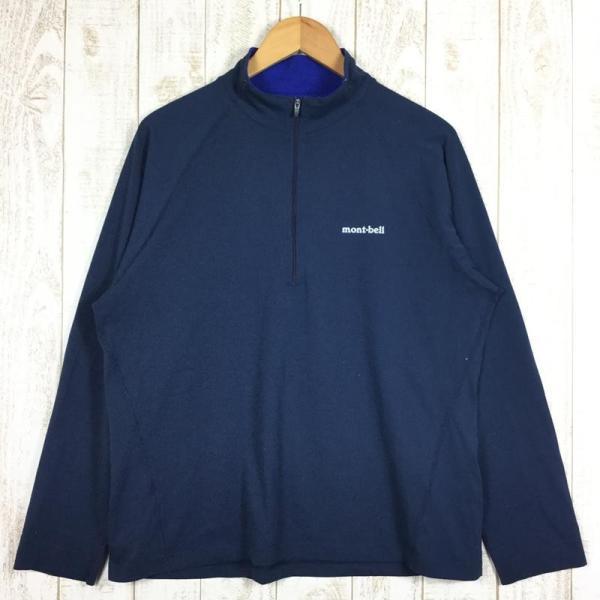 モンベル MONTBELL WIC.ジップシャツ  Asian MEN's XL ネイビー系 2ndgear-outdoor