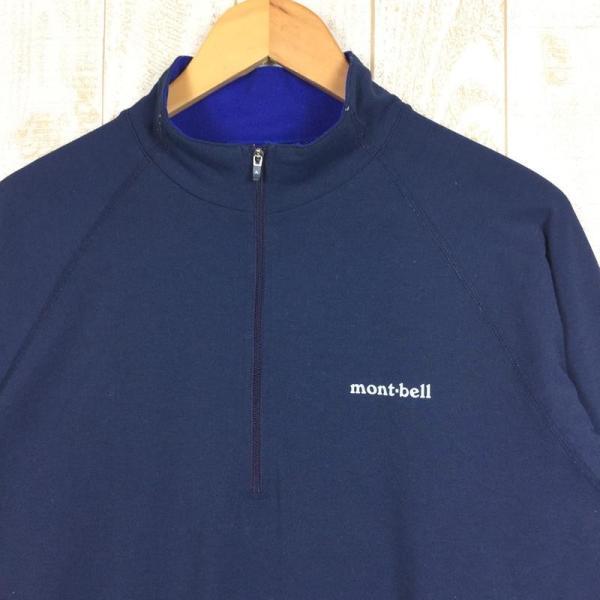 モンベル MONTBELL WIC.ジップシャツ  Asian MEN's XL ネイビー系 2ndgear-outdoor 02