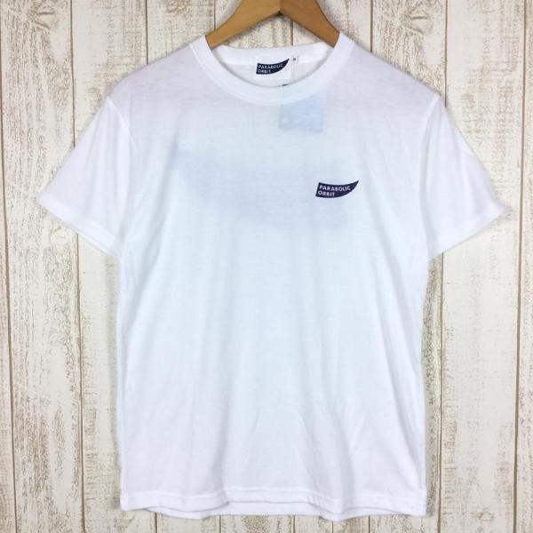 パラボリックオービット ロゴ Tシャツ ドライコットンタッチ  MEN's S ホワイト系 2ndgear-outdoor