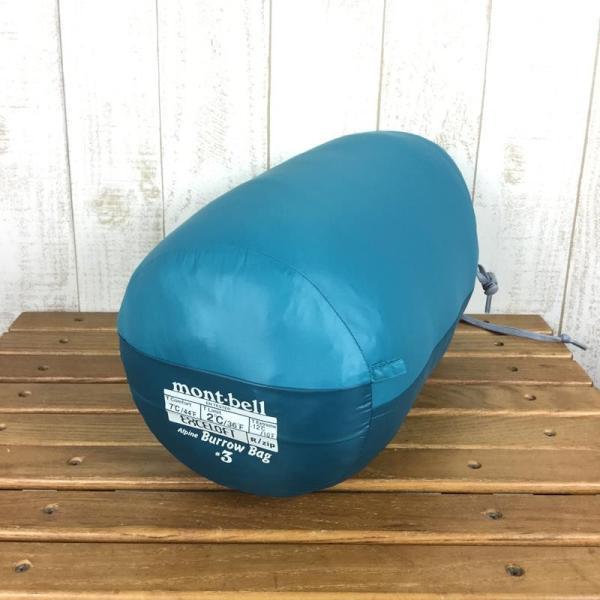 モンベル MONTBELL アルパイン バロウバッグ #3 化繊 インサレーション シュラフ  One BASM バルサム グリーン系|2ndgear-outdoor