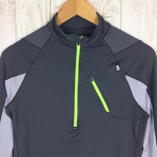 ミレー MILLET ロングスリーブ ミッドウェイト ジップネック シャツ  International MEN's S グレー系|2ndgear-outdoor|02