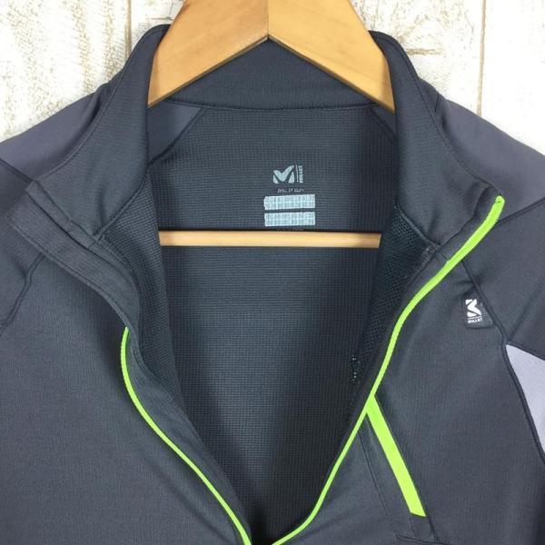 ミレー MILLET ロングスリーブ ミッドウェイト ジップネック シャツ  International MEN's S グレー系|2ndgear-outdoor|03