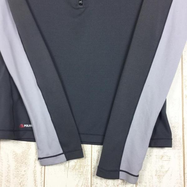 ミレー MILLET ロングスリーブ ミッドウェイト ジップネック シャツ  International MEN's S グレー系|2ndgear-outdoor|06