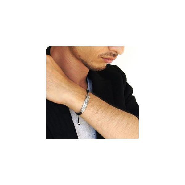 メール便なら送料無料  ブレスレット メンズ シルバーアクセサリー フェザー・羽根 ネイティブ b0586 腕周り約16cm〜22cm|2pcs|06