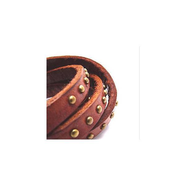 メール便なら送料無料  レザーブレスレット メンズ・レディース スタッズ 皮・革 5連・5重巻き ヴィンテージ風 gobr0014 腕周り約15〜17cm(5連)|2pcs|03