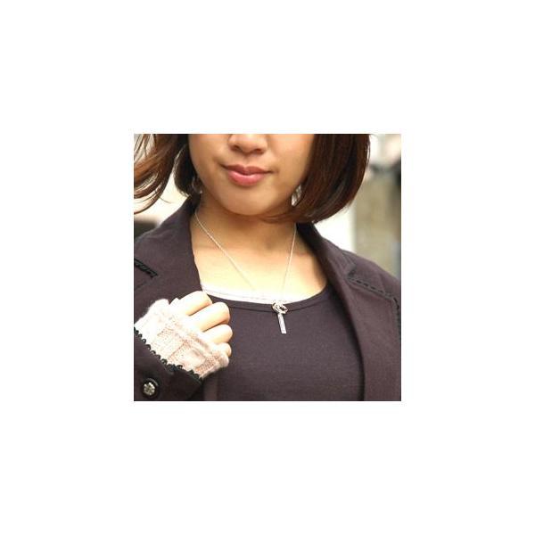送料無料  ペアネックレス メビウスリング ダイヤモンド pe1751 チェーン付きペアセット ギフトBOX付き