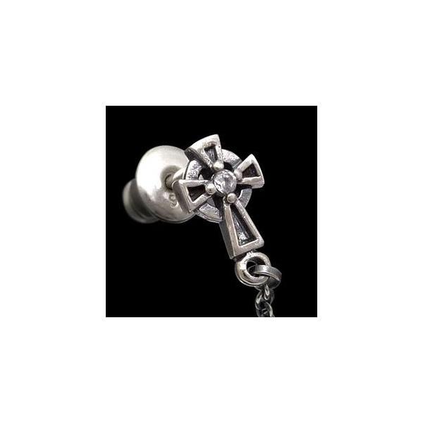 メール便なら送料無料  ピアス メンズ シルバーピアス メンズピアス マリア・メダイ クロス・十字架 pi0405 バラ売り|2pcs|04