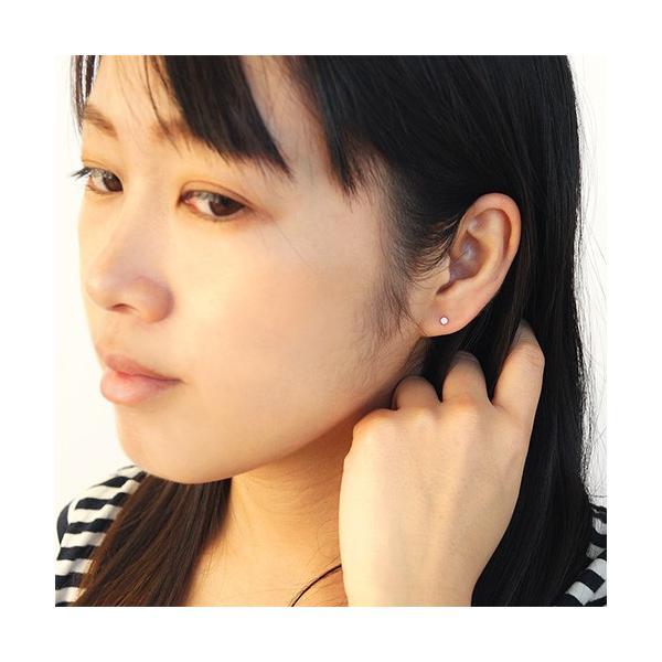 送料無料  ピアス プラチナ ダイヤモンド 一粒ダイヤ 0.1ct pt900 シンプル レディース pi0470 ペア売り(両耳)|2pcs|06