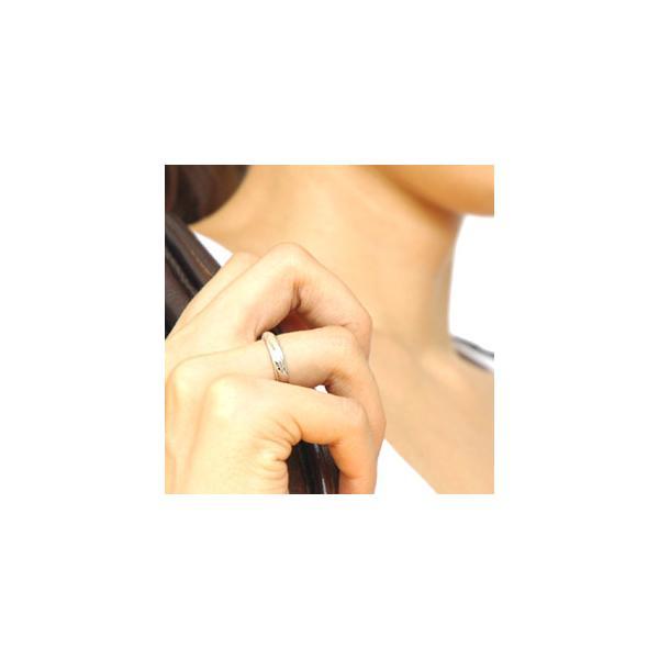 送料無料  シルバーアクセサリー ペアリング[単品] リング・指輪 ブルーダイヤモンド メビウス・永遠 r0521 2pcs 03