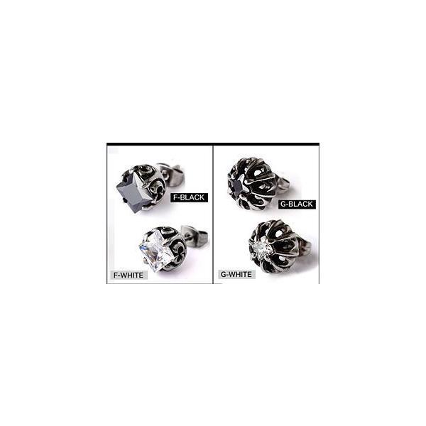 メール便なら送料無料  ステンレスピアス メンズ ステンレス クロス ジルコニア spi0053 片耳売り(ばら売り)|2pcs|05