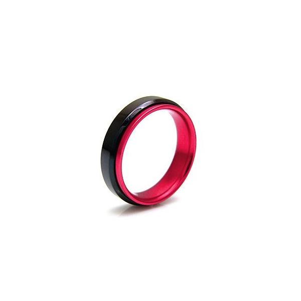 メール便なら送料無料  ステンレスリング 指輪 メンズ レディース ピンク ブラック レッド ブルー sr0102|2pcs|02
